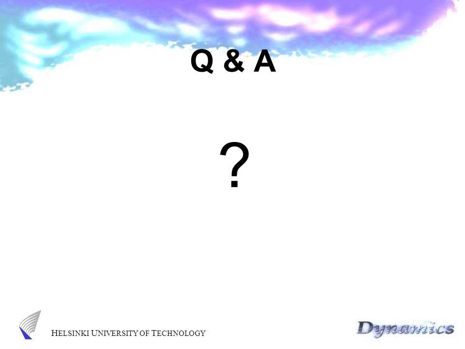 H ELSINKI U NIVERSITY OF T ECHNOLOGY Q & A