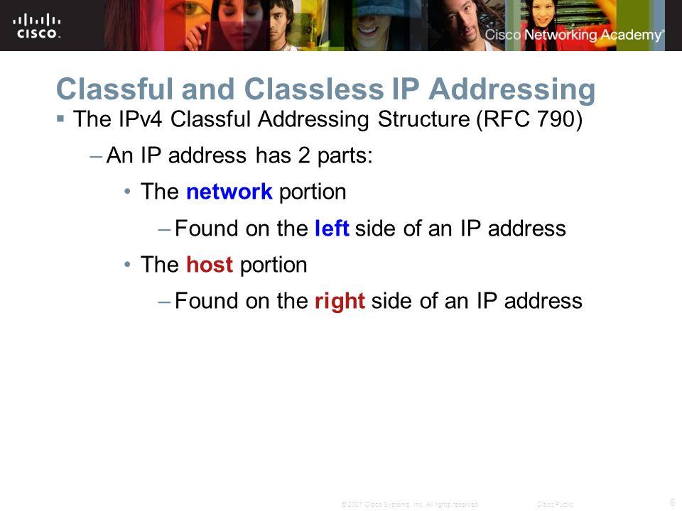 7 © 2007 Cisco Systems, Inc.