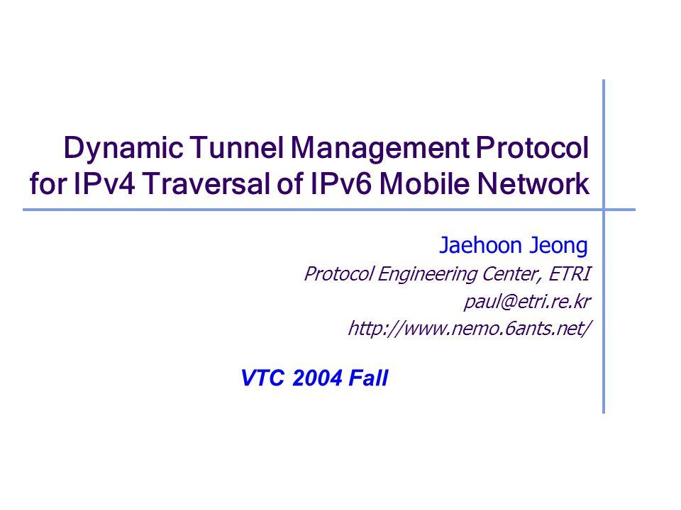 12 Scenario 3 : Setup of IPv6-in-IPv4 Tunnel