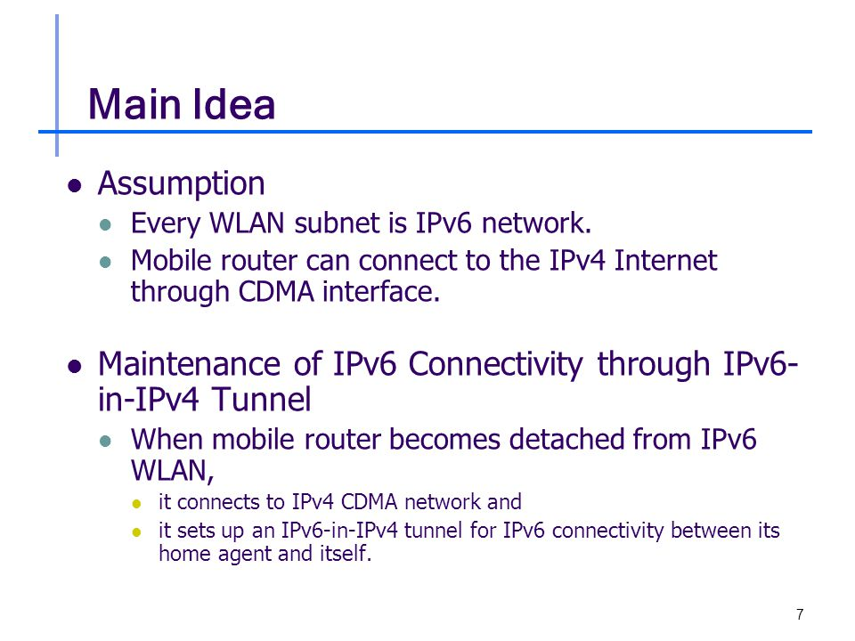 8 Mobile Router in NEMO IPv6 Mobile Router It has two IEEE 802.11g and one CDMA interfaces IEEE 802.11g Interfaces  One is used as Ingress Interface and the other as Egress Interface.