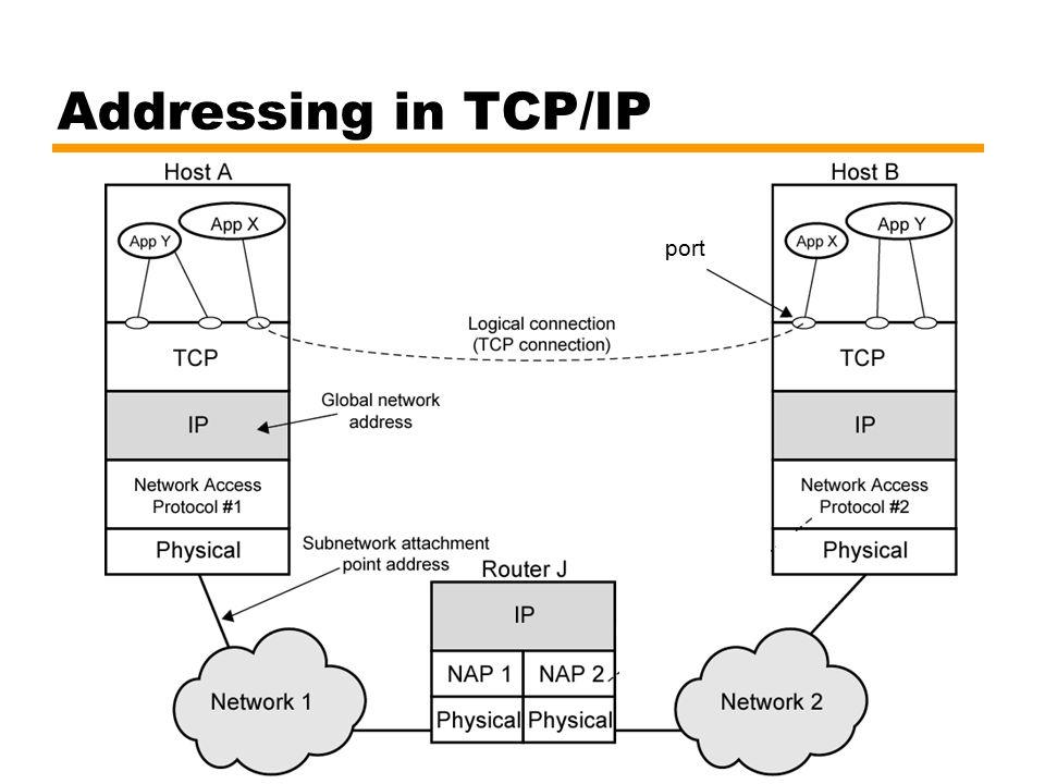 Addressing in TCP/IP port