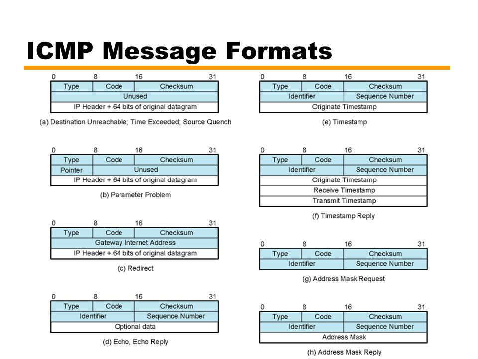 ICMP Message Formats