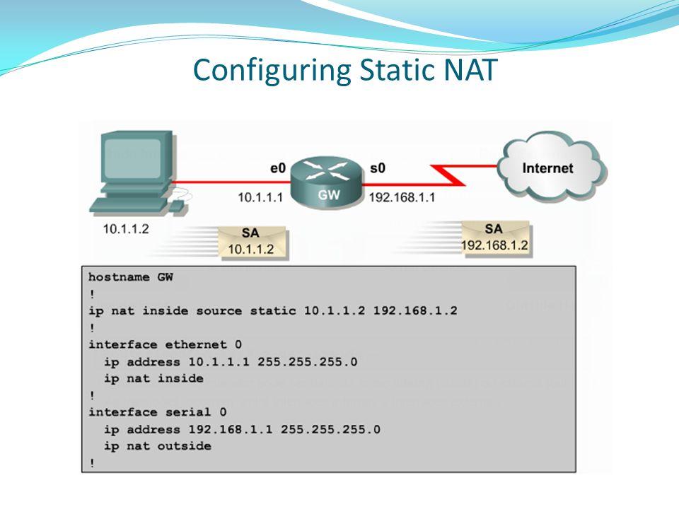 Configuring Static NAT