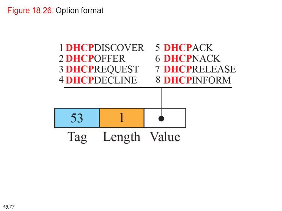 18.77 Figure 18.26: Option format