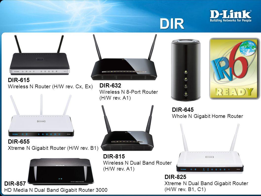 DIR DIR-632 Wireless N 8-Port Router (H/W rev.