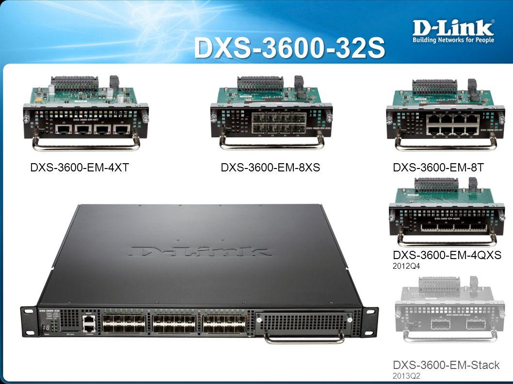 DХS-3600-32S DXS-3600-EM-4QXS 2012Q4 DXS-3600-EM-4XTDXS-3600-EM-8T DXS-3600-EM-Stack 2013Q2 DXS-3600-EM-8XS