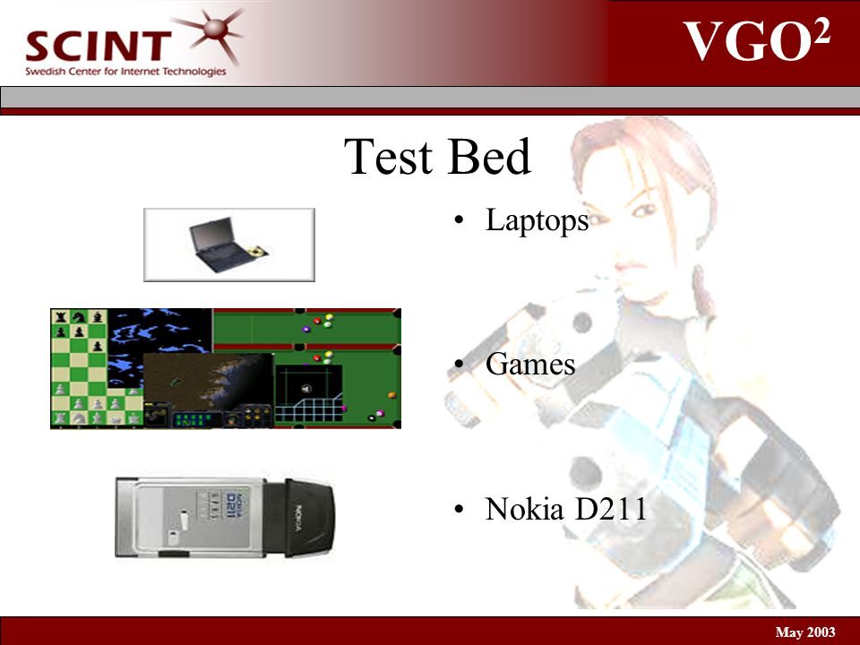 VGO 2 May 2003 Test Bed Laptops Games Nokia D211