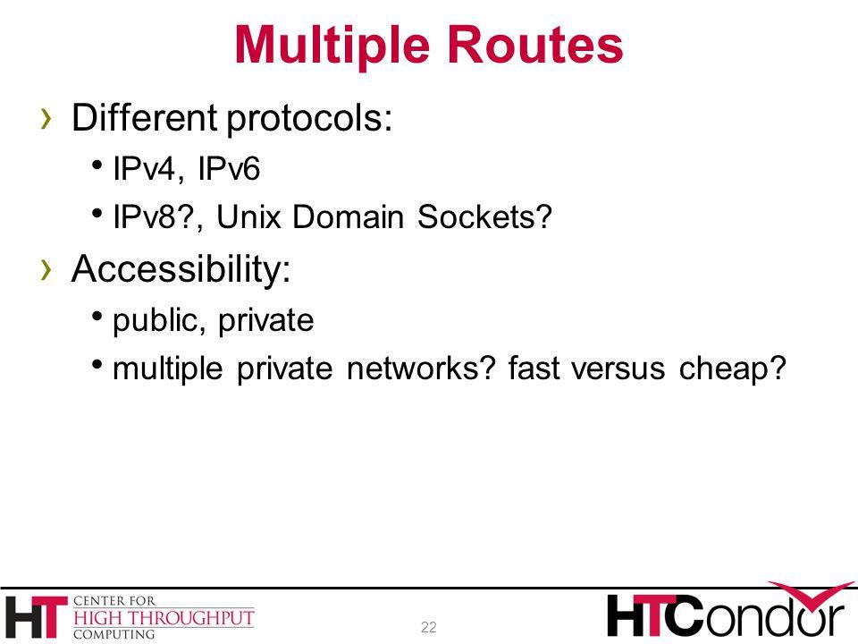 › Different protocols:  IPv4, IPv6  IPv8?, Unix Domain Sockets.