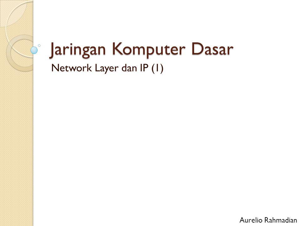 Jaringan Komputer Dasar Network Layer dan IP (1) Aurelio Rahmadian
