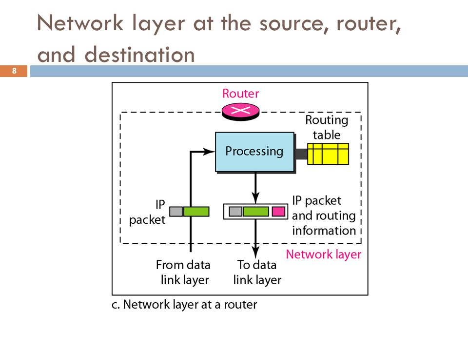 Internet as a Datagram Network  The Internet, at the network layer, is a packet switched network.