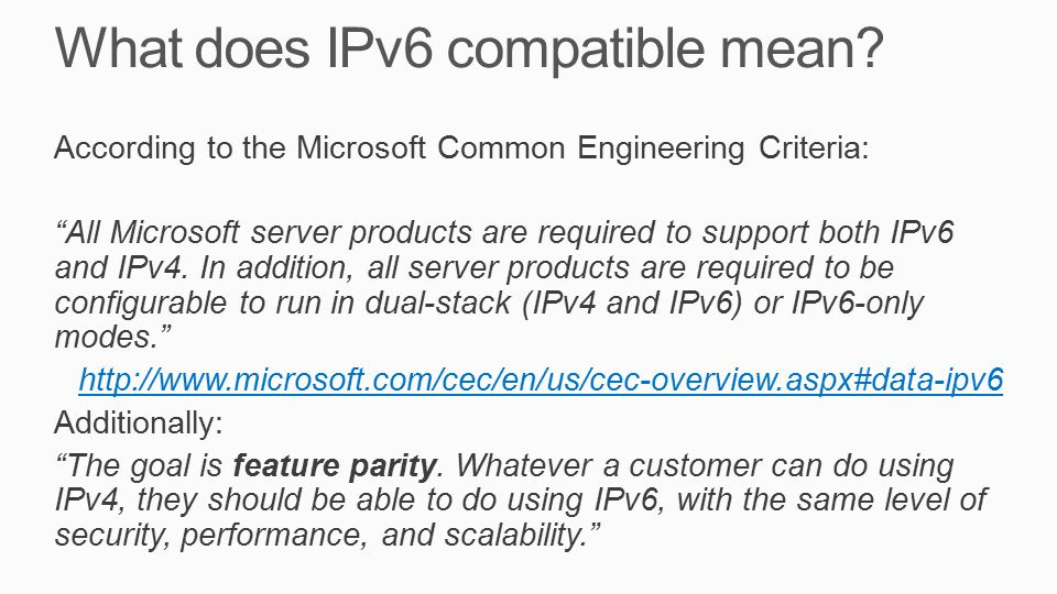 What does IPv6 compatible mean.