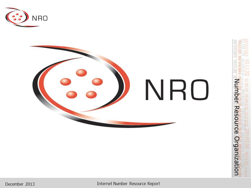 December 2013 Internet Number Resource Report