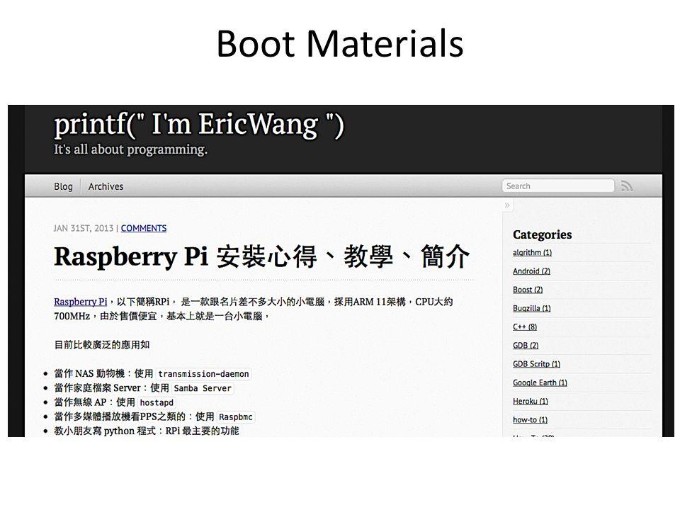 Boot Materials