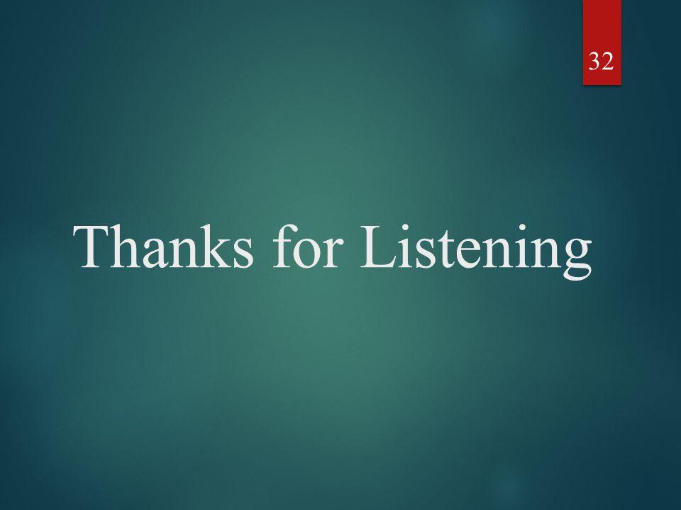 Thanks for Listening 32