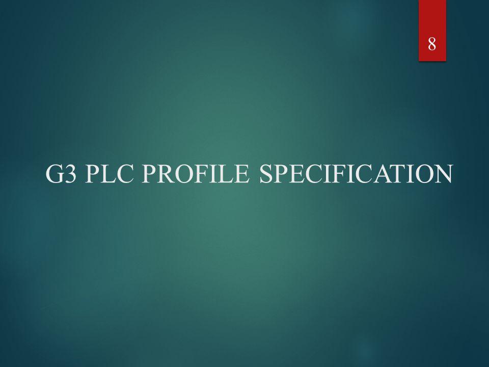 G3 PLC PROFILE SPECIFICATION 8
