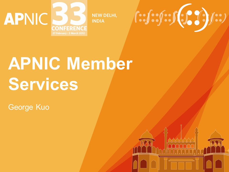 APNIC Member Services George Kuo