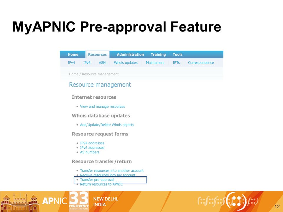 MyAPNIC Pre-approval Feature 12