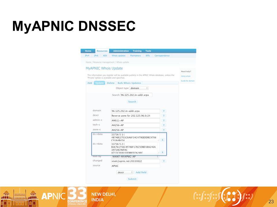 MyAPNIC DNSSEC 23