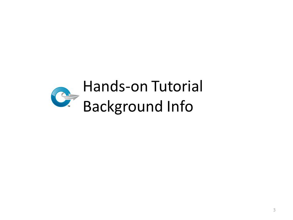 Hands-on Tutorial Background Info 3