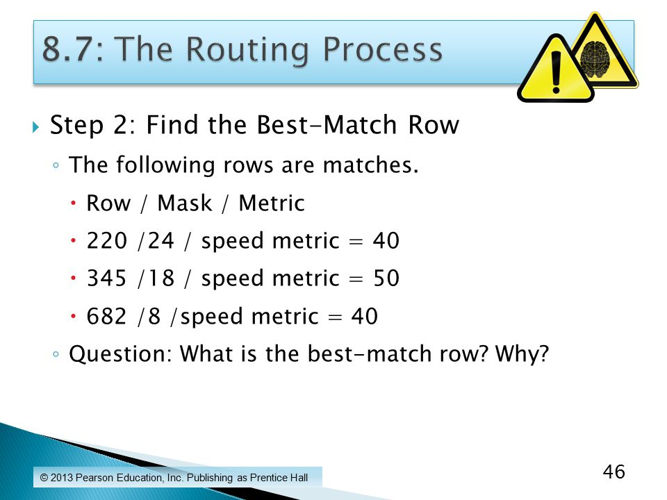  Step 2: Find the Best-Match Row ◦ The following rows are matches.