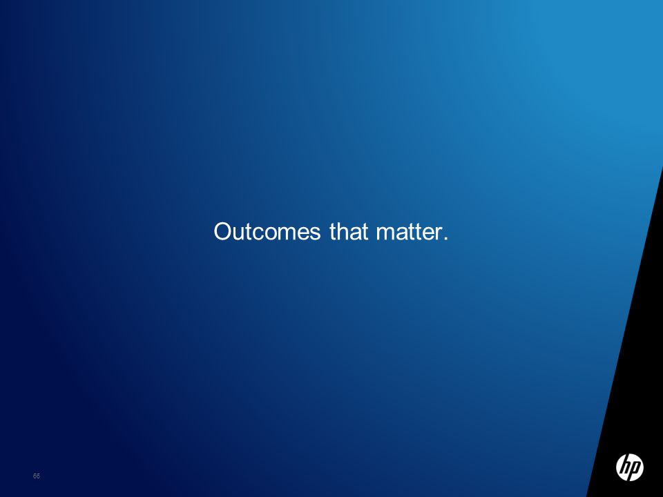 66 Outcomes that matter.