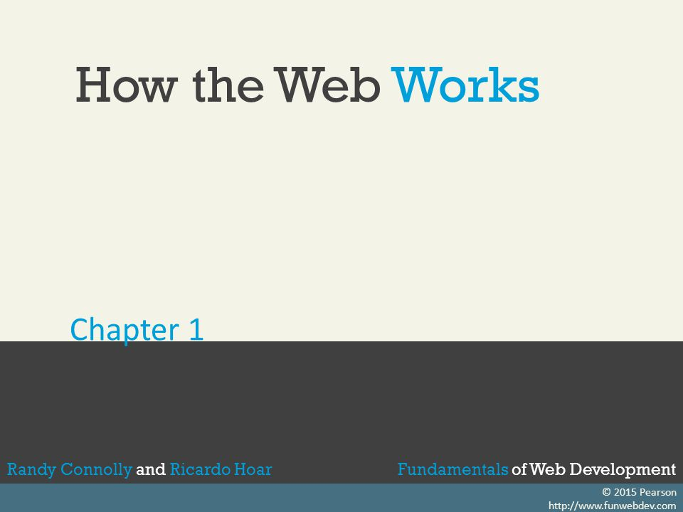 Fundamentals of Web DevelopmentRandy Connolly and Ricardo Hoar Static Web Sites In the earliest days of the web, a webmaster (the term popular in the 1990s for the person who was responsible for creating and supporting a web site) would publish web pages, and periodically update them.