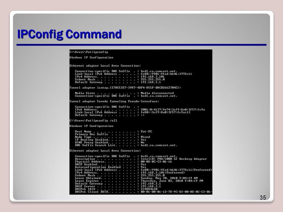 IPConfig Command 35