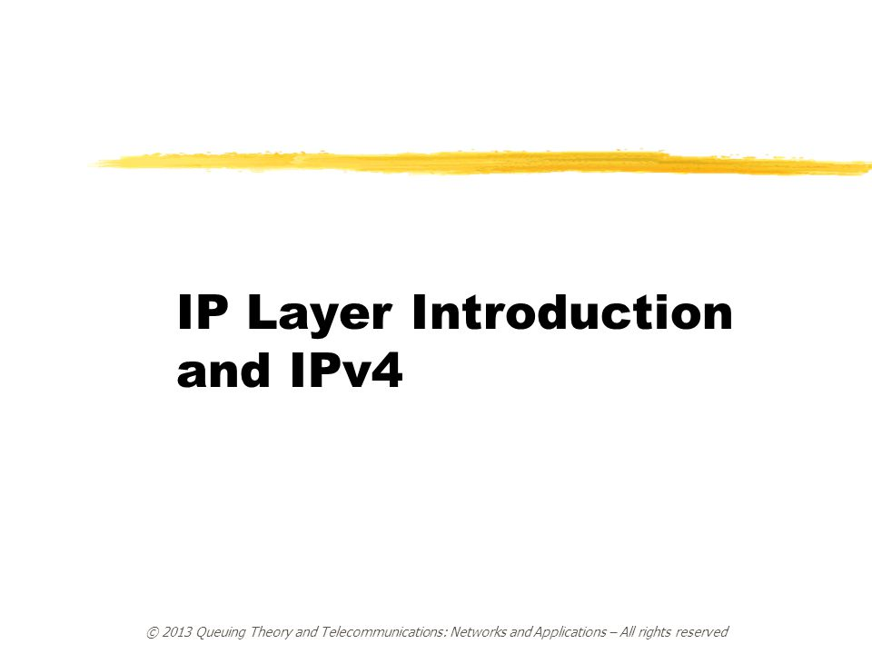 IP Layer Introduction and IPv4