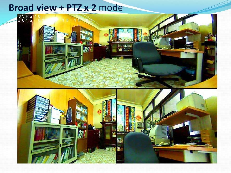Source view + PTZ view x 3 mode