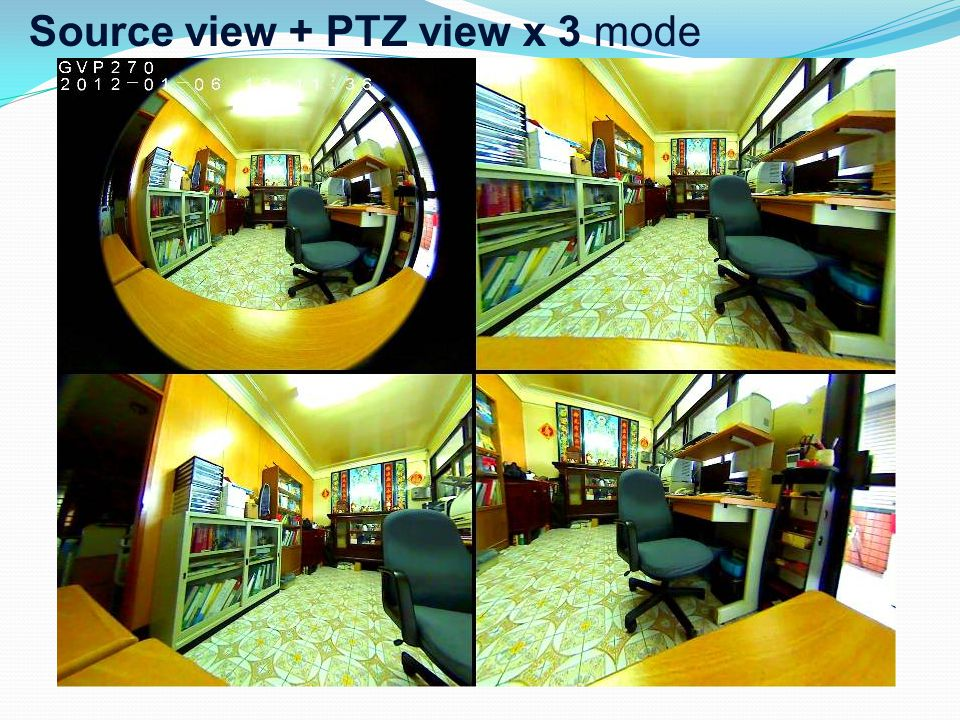 Source view + PTZ view x 3 mode