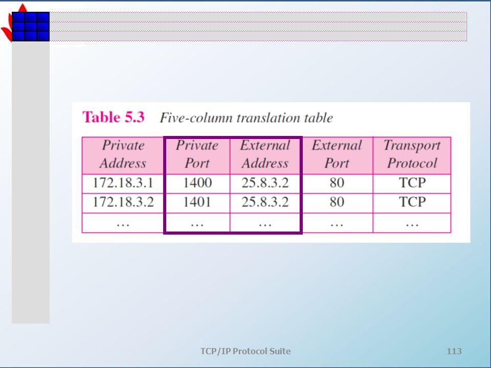 TCP/IP Protocol Suite113