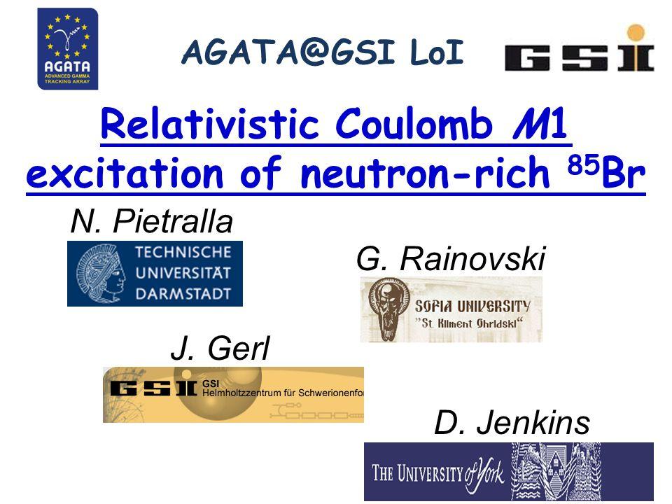 AGATA@GSI LoI Relativistic Coulomb M1 excitation of neutron-rich 85 Br N.