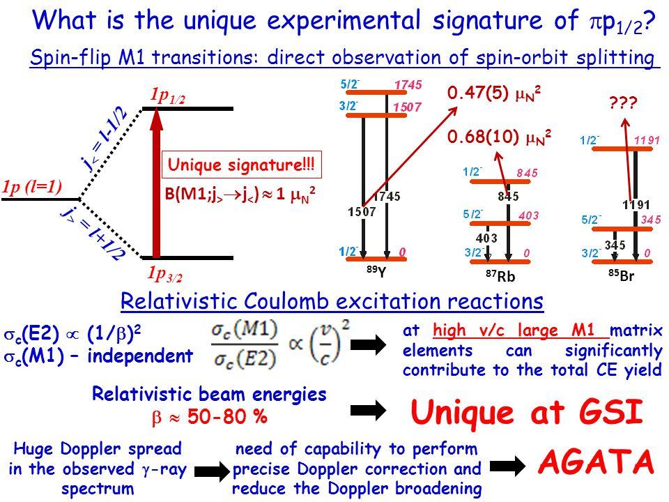 What is the unique experimental signature of  p 1/2 .