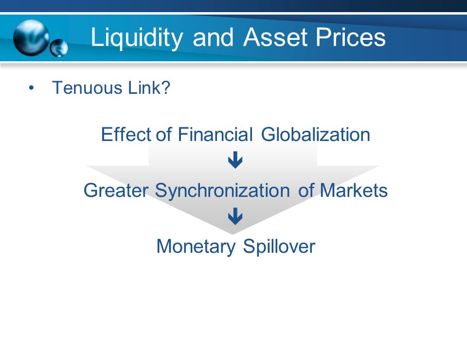 Liquidity and Asset Prices Tenuous Link.