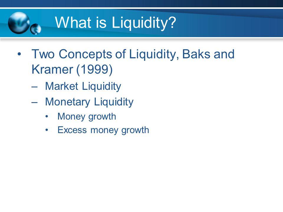 What is Liquidity.