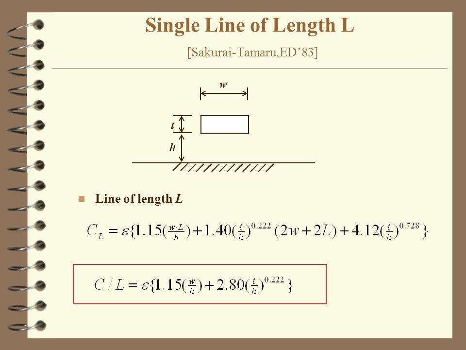 Single Line of Length L [Sakurai-Tamaru,ED'83] w t h n Line of length L