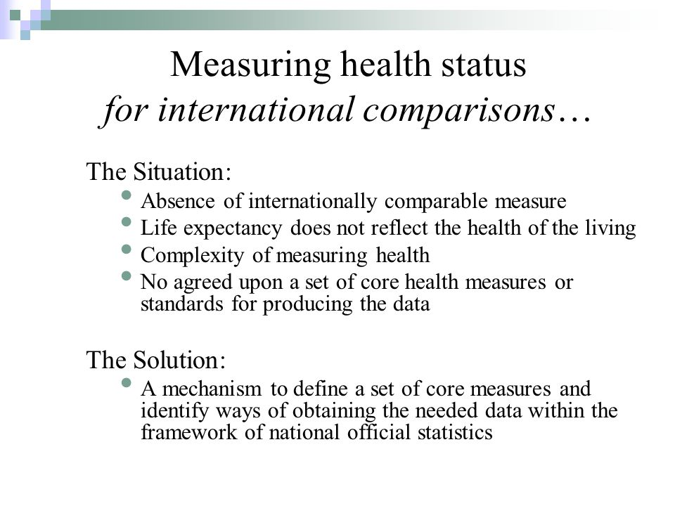 The Budapest Initiative: Summary of the Work to Date May 2004 (Geneva) Joint UNECE/WHO/Eurostat Meeting on the Measurement of Health Status Recommended creation of a Task Force (TF): The Joint UNECE/WHO/Eurostat Task Force on Measuring Health Status October 2004 (Geneva) The Conference of European Statisticians approves the TF November 2005 (Budapest) First meeting of the TF, now also called The Budapest Initiative (BI) January 2007 (Geneva) Second TF meeting Review first round of cognitive testing Agreement on content for BI-M1 Questionnaire subsequently provided to EC/Eurostat
