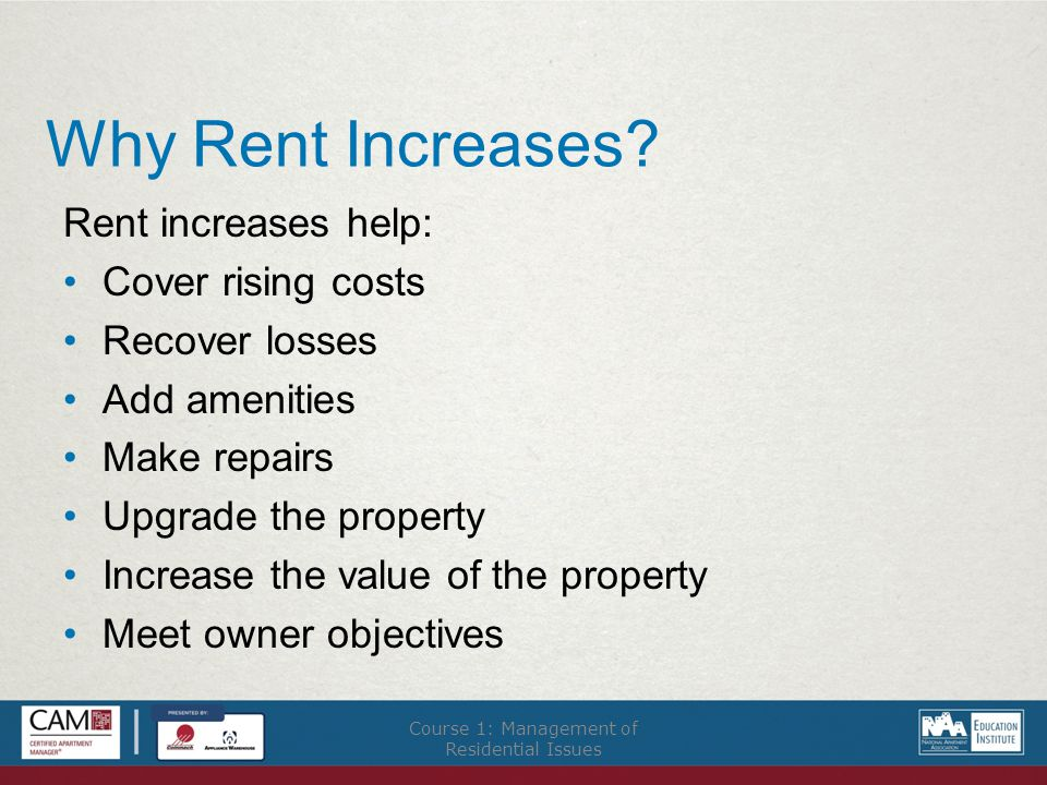 Why Rent Increases.