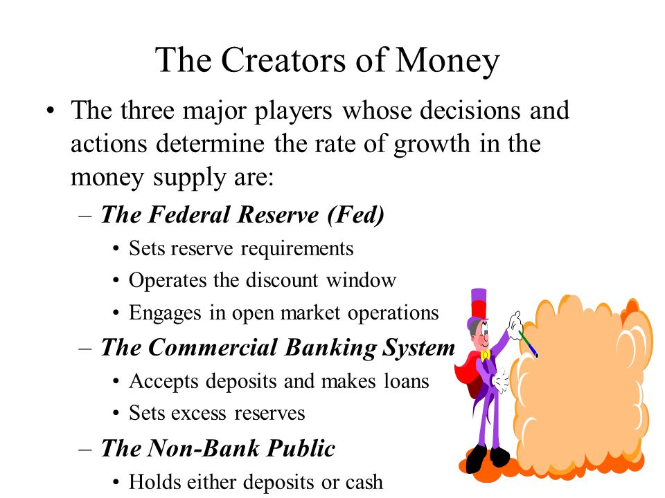 Money Creation Banks create money in their normal, day-to- day profit seeking activities Banks do not try to create money Money creation occurs because we have a fractional reserve commercial banking system.