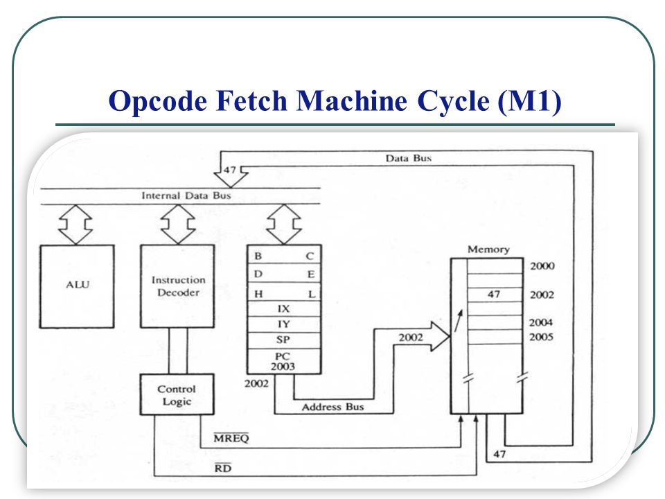 The Timing of the opcode Fetch Machine 8