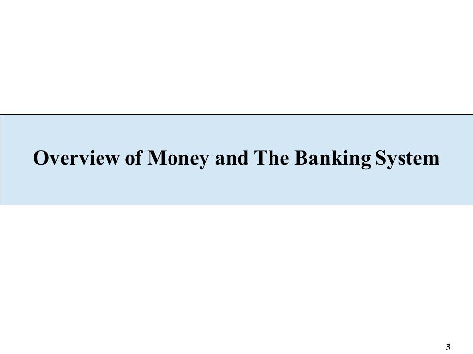 Overview of Money and The Banking System 3