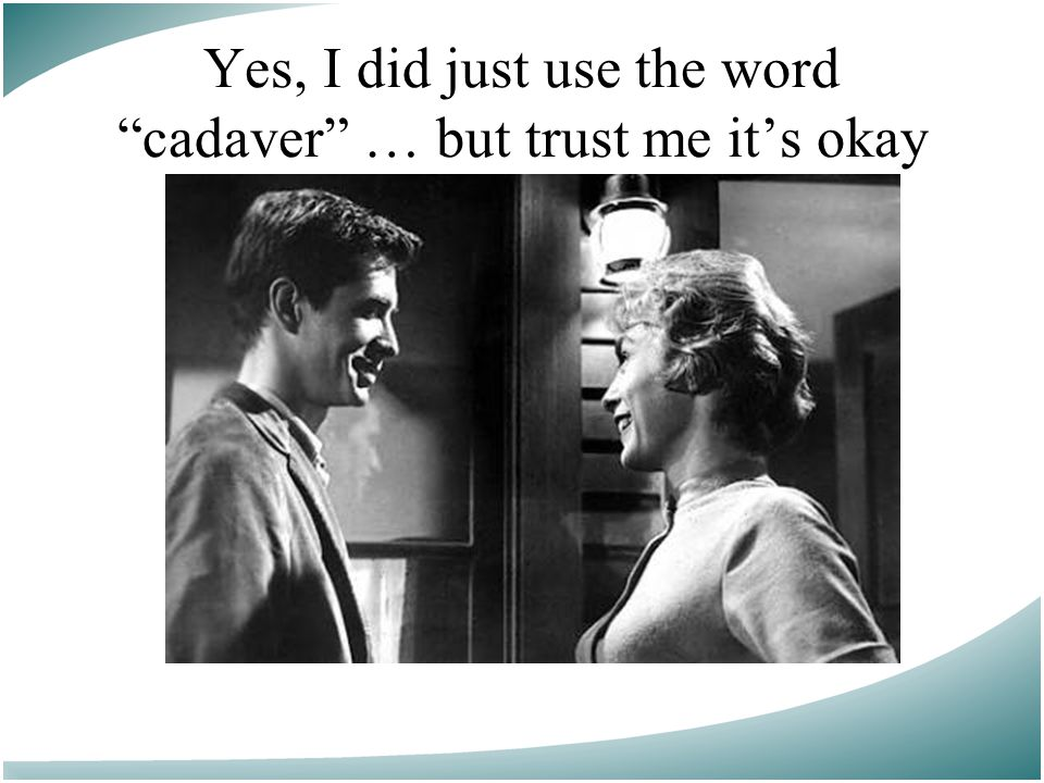 Yes, I did just use the word cadaver … but trust me it's okay