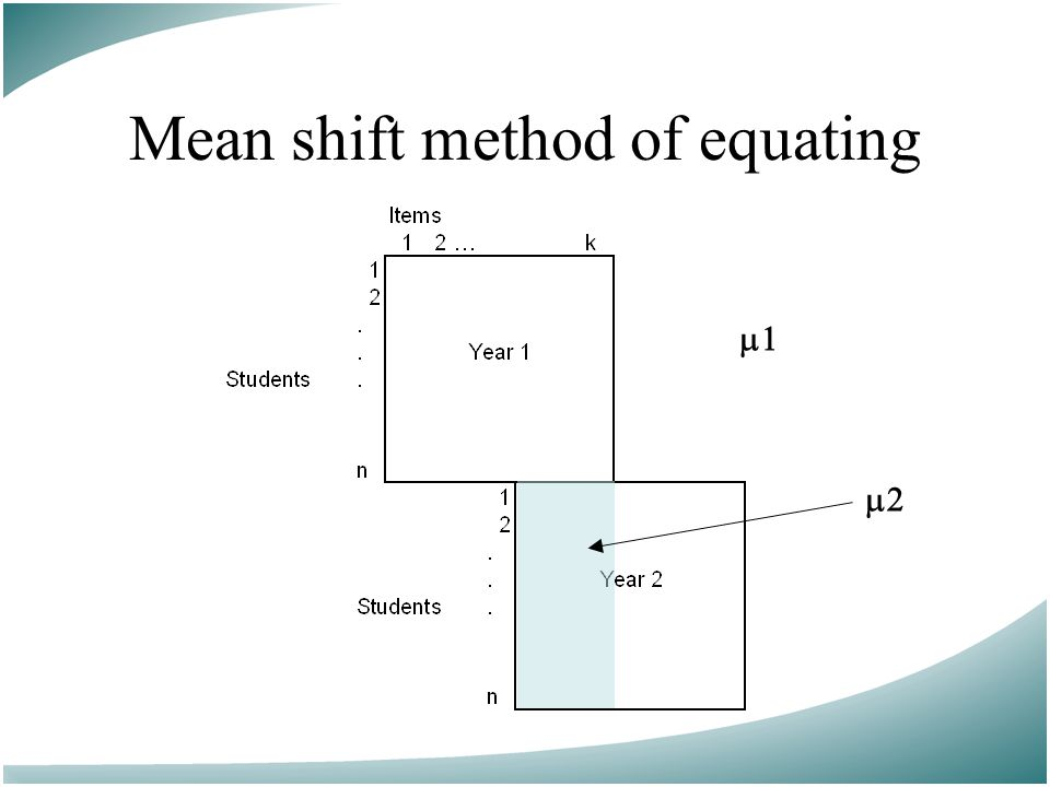 Mean shift method of equating  
