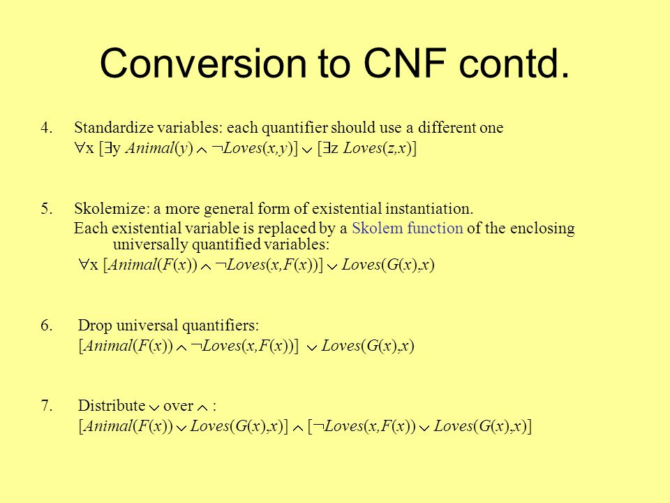 Conversion to CNF contd. 4.