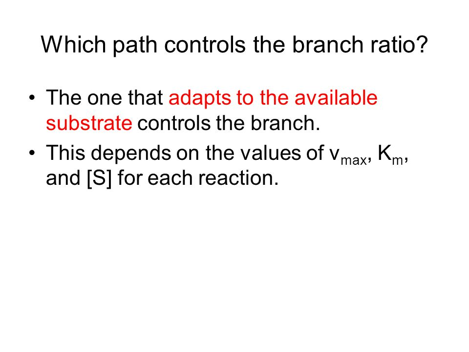 Which path controls the branch ratio.
