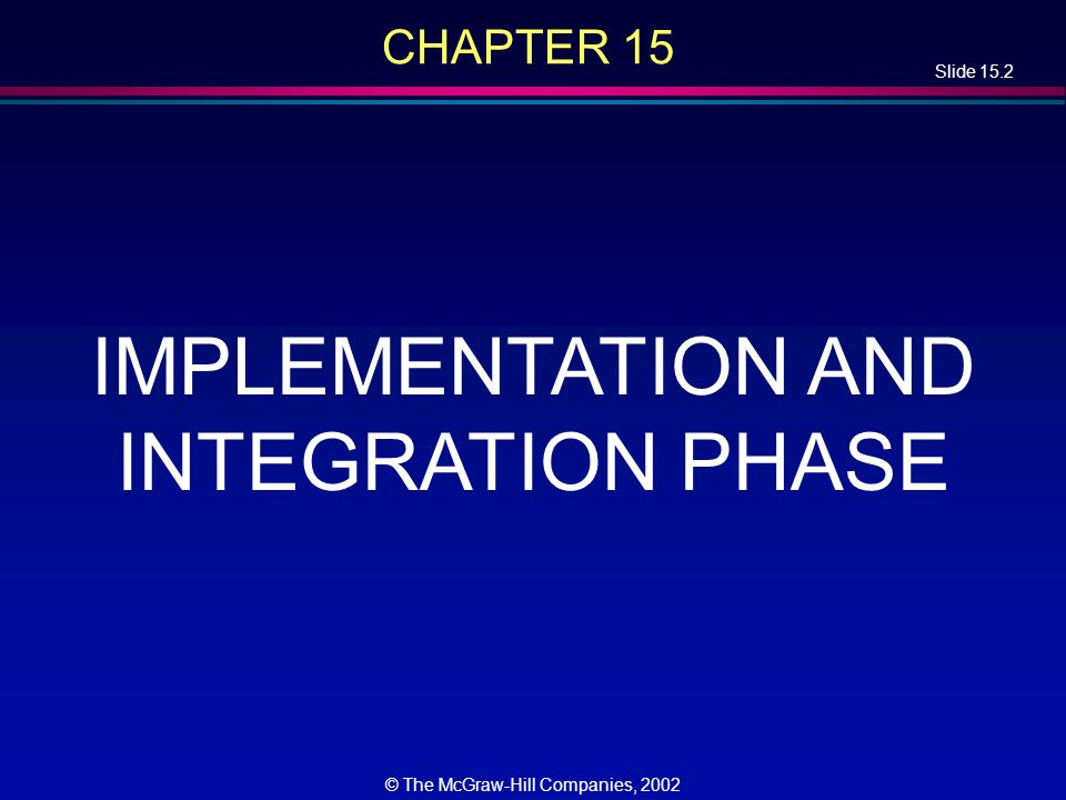 Slide 15.23 © The McGraw-Hill Companies, 2002 Integration Testing of Graphical User Interfaces l GUI test cases: –Mouse clicks –Key presses –And so on l Cannot be stored in the usual way l We need special CASE tools l Examples: –QAPartner –XRunner