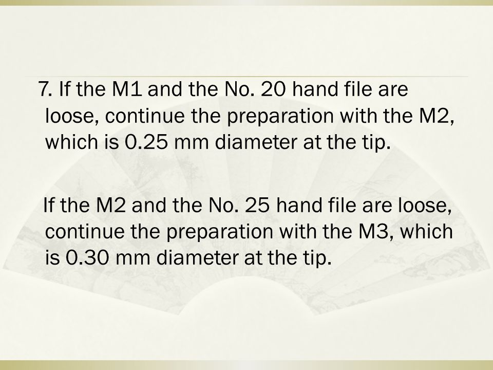 7. If the M1 and the No.