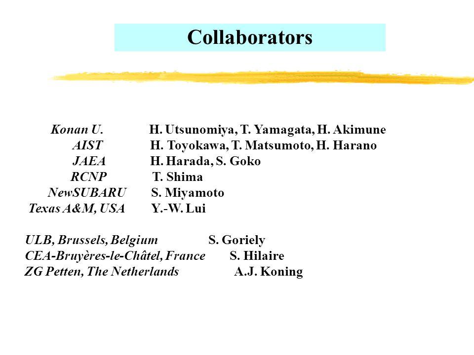 Konan U. H. Utsunomiya, T. Yamagata, H. Akimune AIST H.