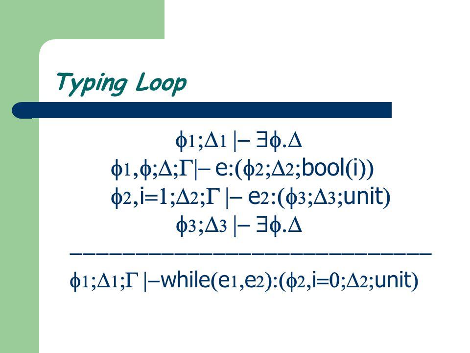 Typing Assignment     e        x  e    x  unit 