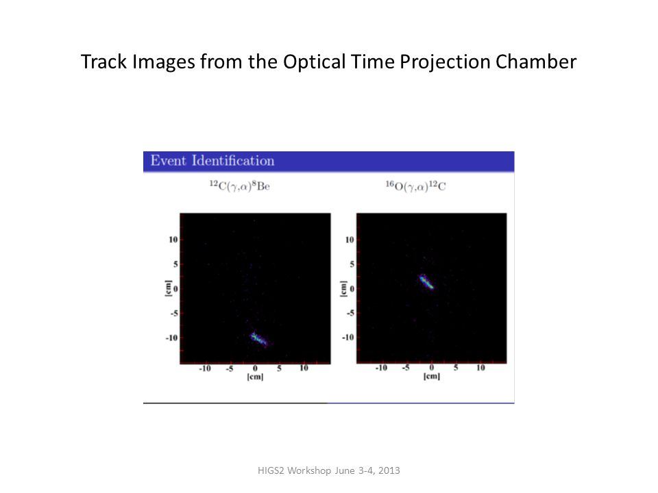 HIGS2 Workshop June 3-4, 2013 Track Images from the Optical Time Projection Chamber